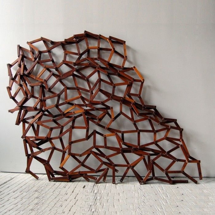 Gagnon Studio Grid Wall #decor #wood #spacedivider #roomdivider #screen