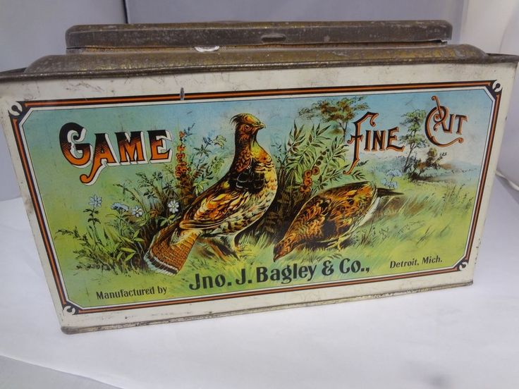 VINTAGE GAME FINE TOBACCO STORE BIN COUNTER DISPLAY ADVERTISING EXC COND 894-S