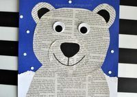 This newspaper polar bear craft is perfect for a winter kids craft, preschool craft, newspaper craft and arctic animal crafts for kids. #polarbearcrafts #wintercrafts