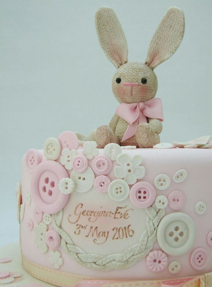 Knitted Bunny Cake