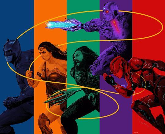 Justice League Movie SuperHeroes Batman, Wonder Woman, Aquaman, Cyborg and The Flash - DigitalEntertainmentReview.com