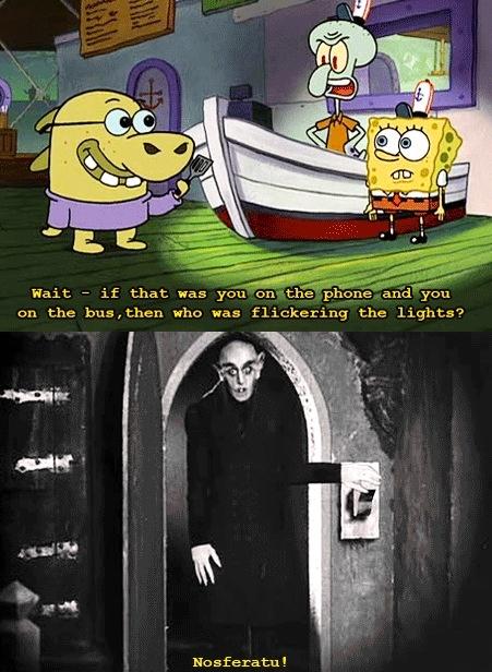 Spongebob meets Nosferatu! *which I finally got around to ...