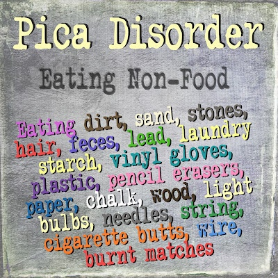 pica an eating disorder People who have non-food cravings — the need to ingest chalk, pebbles, wire, and the like — may have an eating disorder called pica yes, it can cause gastrointestinal problems, and yes, it is treatable.