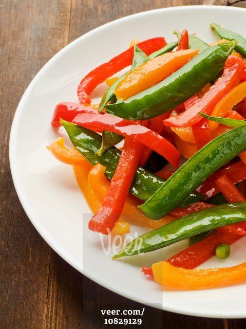 Vegetables stir-fry Stock Photo