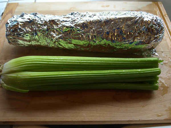 Wrap celery, broccoli, and lettuce in tin foil before storing in the fridge.