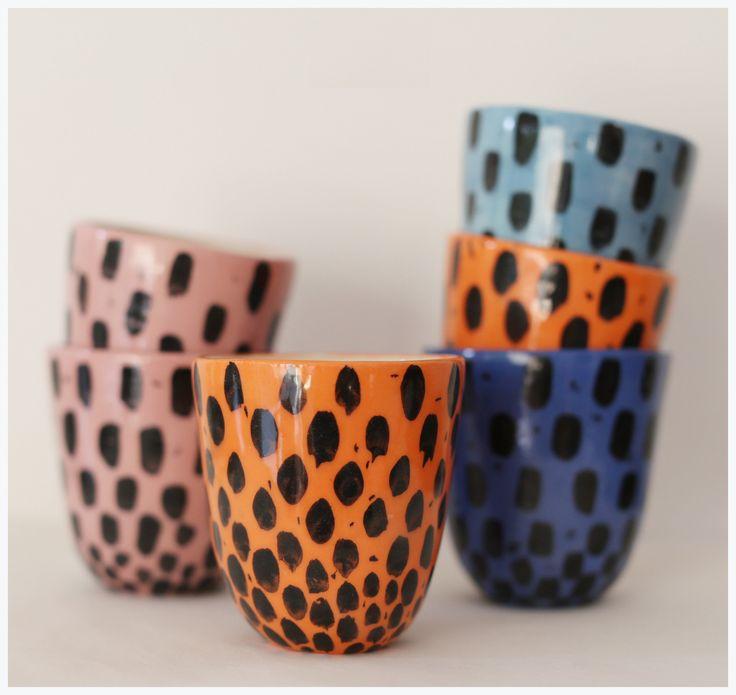 vaso pocillo ceramica artesanal pop
