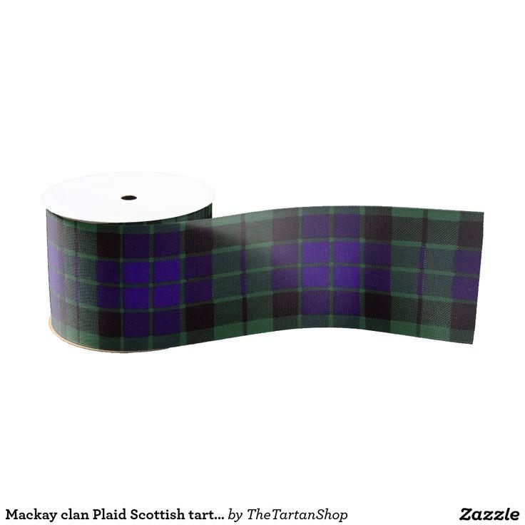 Mackay clan Plaid Scottish tartan Grosgrain Ribbon