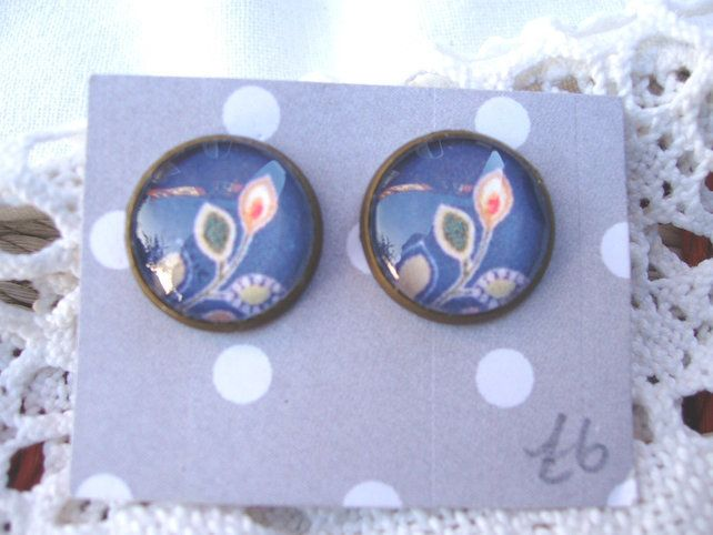 Kimono fabric style earrings £6.00