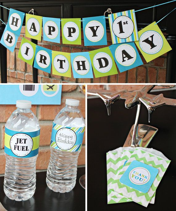 38 best images about ethan 39 s 6th bday on pinterest for Airplane party decoration