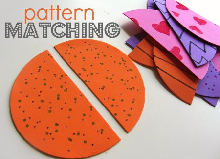 This is a simple activity with great cognitive benefits. Matching is the simplest form of finding patterns which is an important part of learning to organizing information. This is important for math and reading later on.