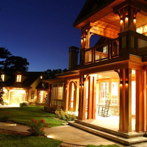 Exterior at Night | Residence in Great Falls, Virginia | Ballard Mensua Architecture
