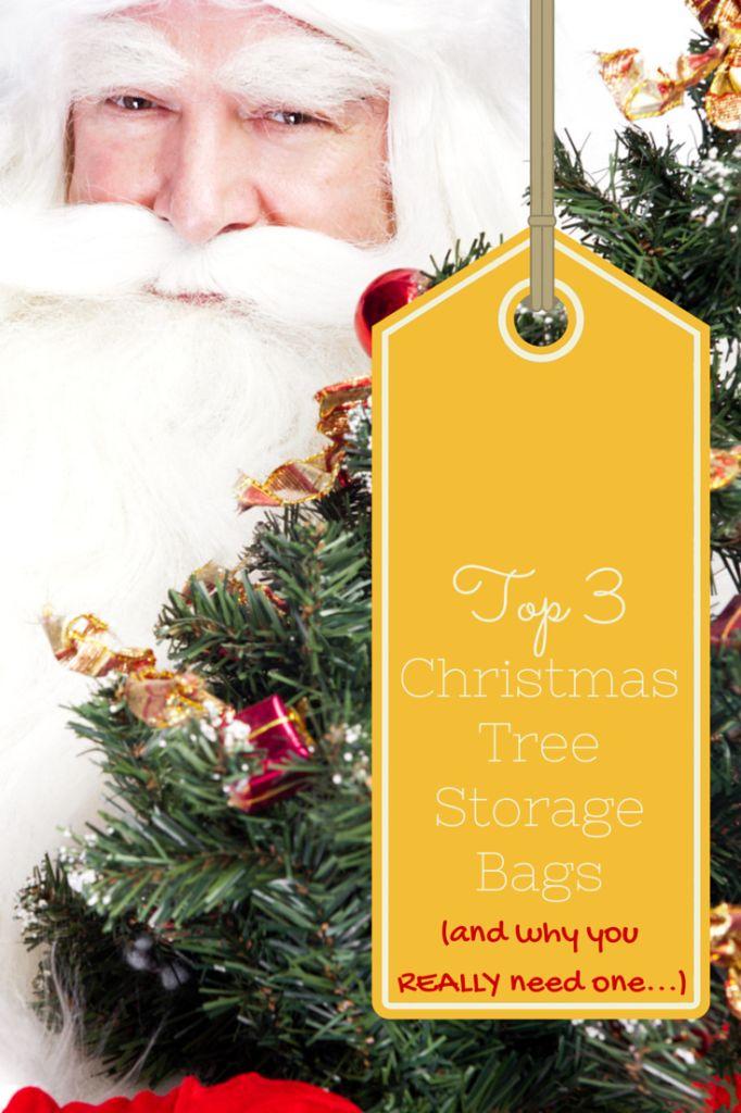 Christmas tree storage bag options-- and why you REALLY need one. #christmas