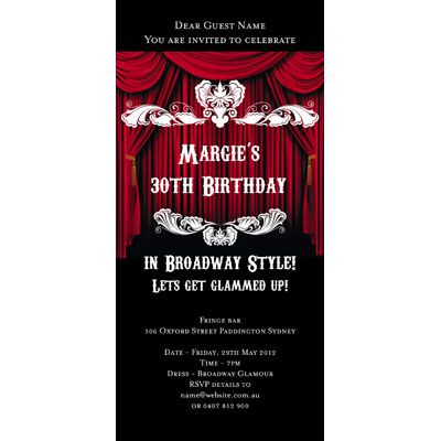 Places Themed Invitations - Broadway Show | Parties ...