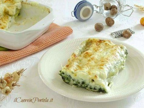 Cannelloni ricotta e spinaci http://www.ilcuoreinpentola.it/ricette/cannelloni-ricotta-e-spinaci/