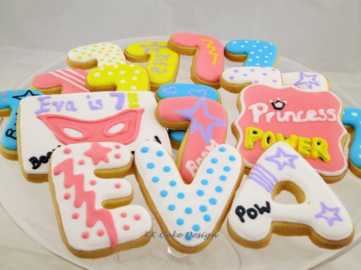 Barbie Princess Power themed vanilla butter cookies