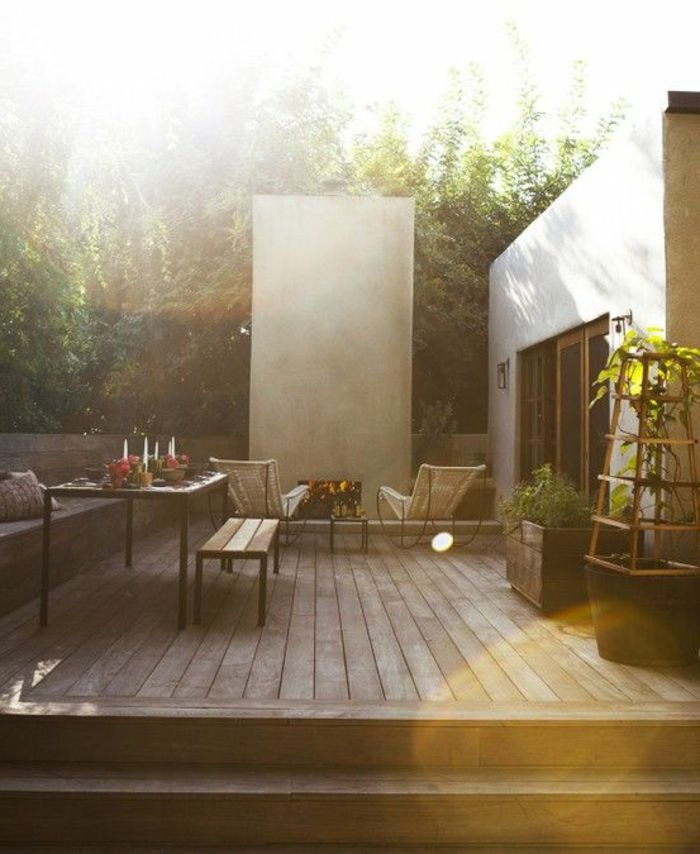 29 best images about projets terrasses on pinterest for Amenagement exterieur terrasse