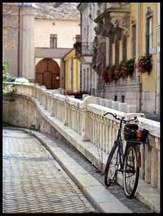 Quiet city street (upper part of Corvin Square) in Buda, Budapest, Hungary