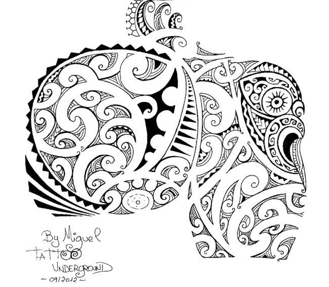 Maori Tattoo Design Stock Photos: Dessin Pour Tatouage D'Armure Maori Polynésien Sur L