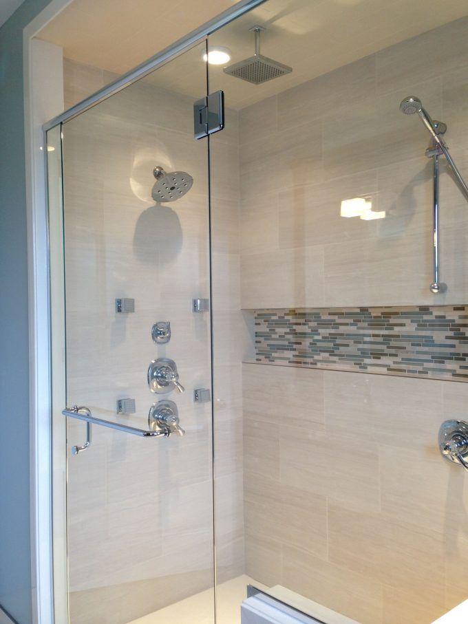 Mosaic Shower Niche Ideas Seaside Bathroom Pinterest Shower