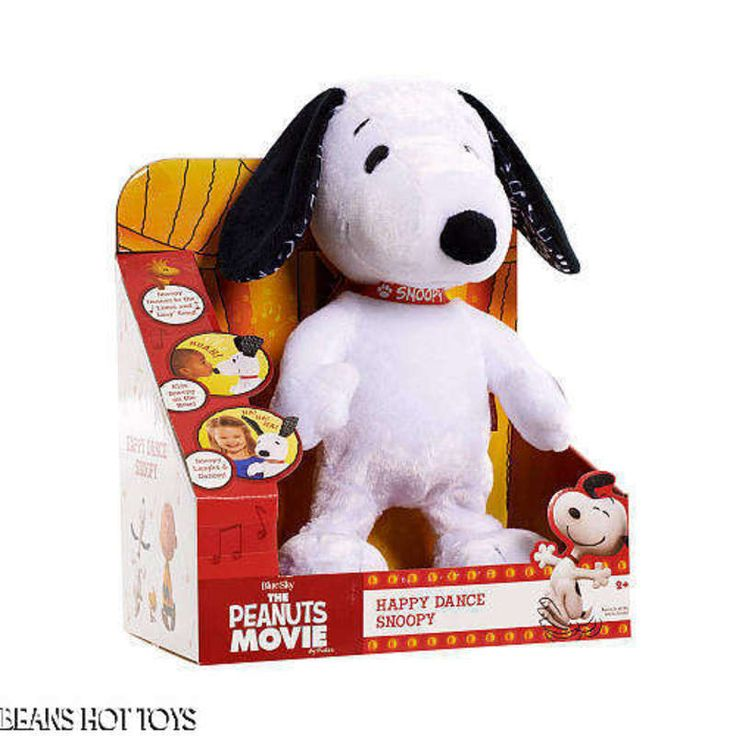 Peanuts Movie Happy Dance Snoopy Plush Laughs  Kisses NEW #JustPlay