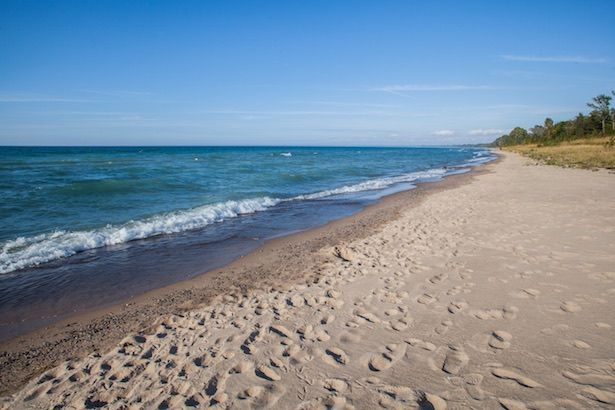 Oakwood Resort Beach in Grand Bend, Ontario, Canada