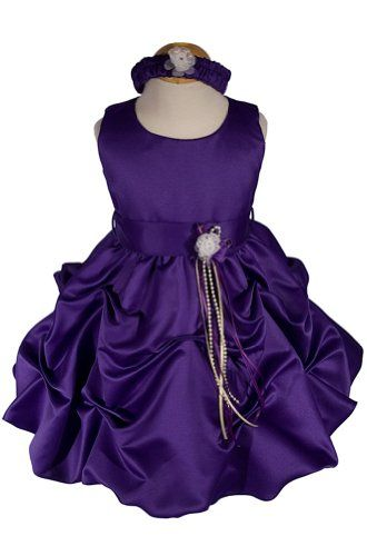 AMJ Dresses Inc Purple Infant Flower Girl Wedding « Dress Adds Everyday