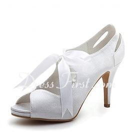 L TC Chaussures pour Femmes Soie Talon Plat Bout Rond Chaussures Plates Mariagechampagne/Argent/Mauve/Bleu/Rouge/Rose/Blanc, Purple, 41
