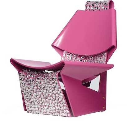Pink Jalk Projec GJ Chair Designed by @Colin Cowie Weddings for Swarovski