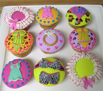lingerie shower cupcakes found at flickr by westonrock