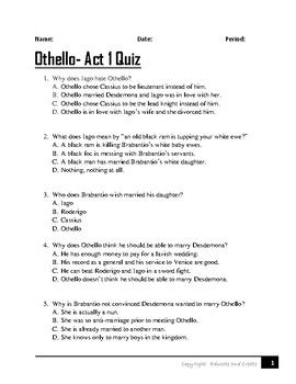 best othello analysis ideas othello by william  othello act 1 quiz