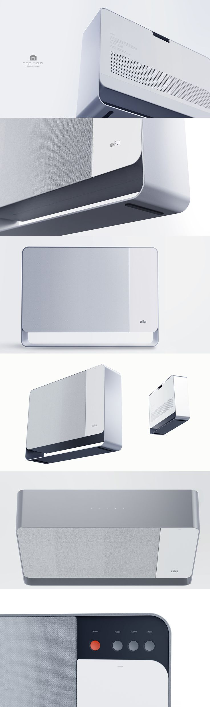 PDF HAUS_ Republic of Korea Design Academy / Product design / Industrial design / 工业设计 / 产品设计/ 空气净化器 / 산업디자인 /air purifier/ 공기청정기/ 브라운/braun