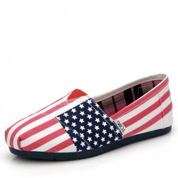 Toms 2014 New Arrival Womens Strip Star Shoes Pink White