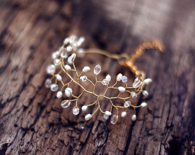 Brautschmuck gold perlen  Die besten 25+ Hochzeitsarmbänder Ideen auf Pinterest ...
