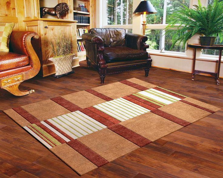 An interesting Custom Handtufted wool rug.