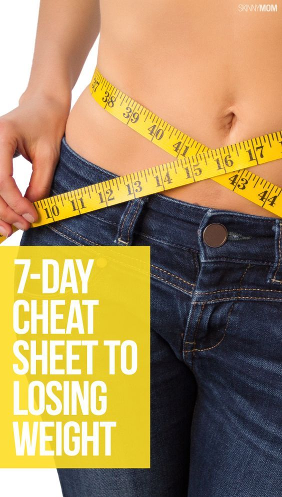 Follow this cheat sheet for weight loss this week!
