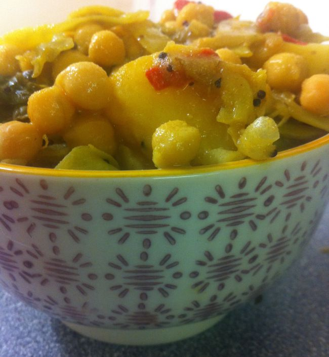 Spiced Chickpea, Cabbage & Potato #Stew #vegan #glutenfree #vegetarian #food #cooking