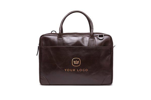 Download Leather Laptop Bag Logo Mockup Luxury Leather Bag Leather Laptop Bag Brown Leather Laptop Bag