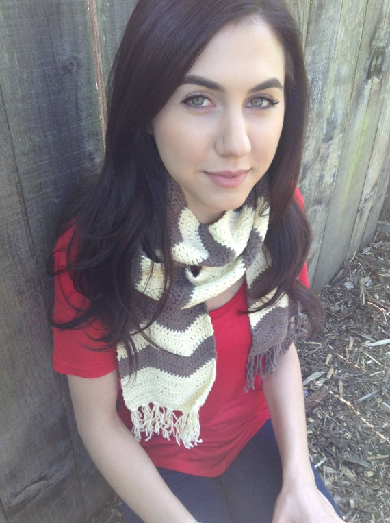 Chevron scarf by Evelyn Mae Crochet on Etsy