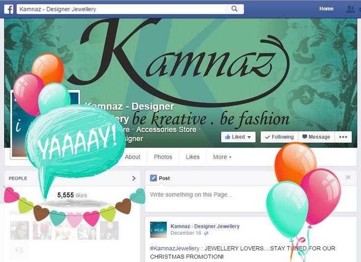 #KamanzJewellery 5555 likes!!!!!! yaaaaaaay #fblikes #Facebook #likes #likeforfolow #kamnaz #jewelry #Mumbai #India
