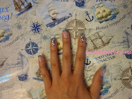 Французский маникюр с цветком в стиле зебра. Вам нравится французский маникюр, но не просто, а необычный, с цветочком? Давайте я вас удивлю.  Автор: Творческая Анна  Дизайн ногтей, нейл-арт, необычный рисунок, креативный французский маникюр, нейл-арт, дизайн ногтей, ногти, ноготки