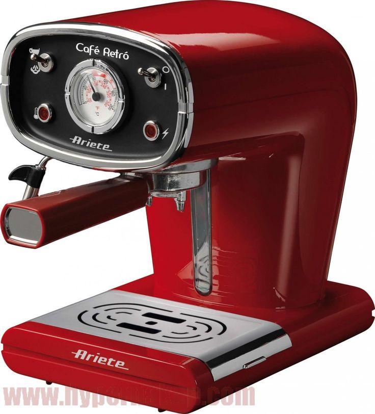 Ariete Retro Espresso kávovar, červený  Ariete 1388/31