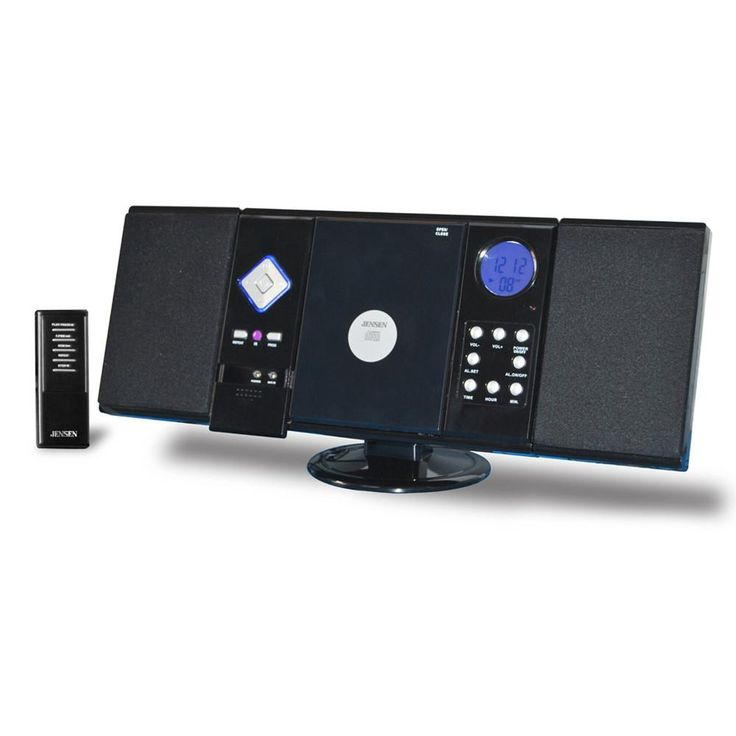 Jensen JMC-180 Jensen Wall Mountable CD System with AM/FM Stereo Receiver and Remote Control