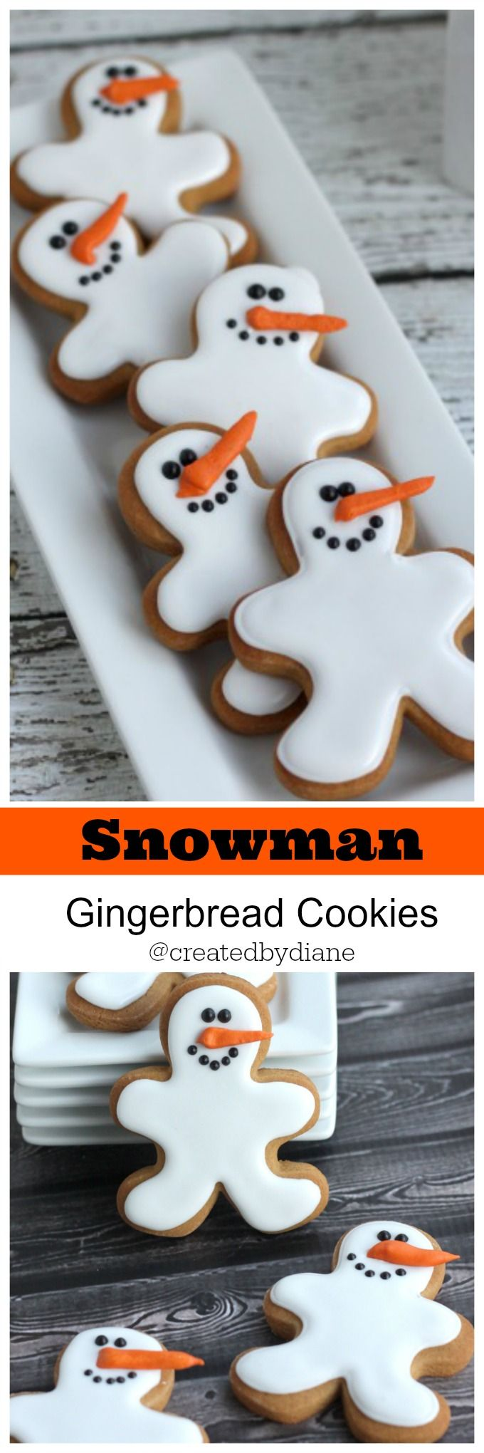 Snowman Gingerbread Cookies @createdbydiane                                                                                                                                                                                 More