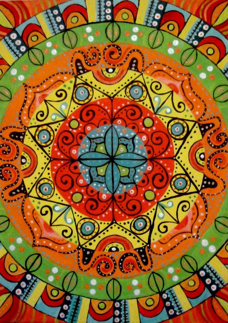 Mandala acrílico sobre tela. Esperanza González