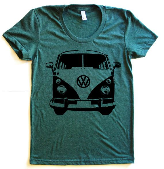 VW Micro Bus Graphic Print Tee TriBlend Short by StarHeartPinkShop, $20.00