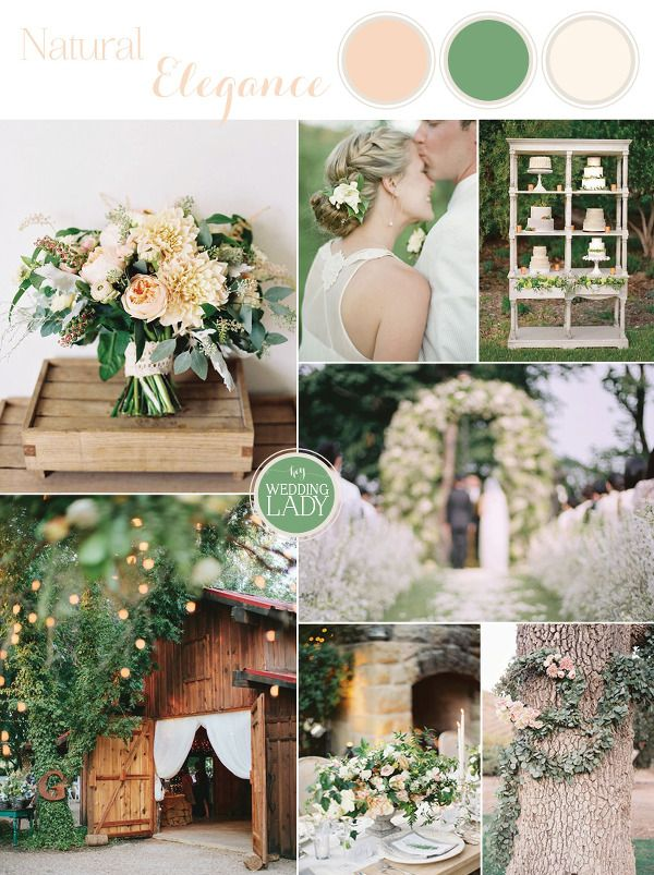 An Elegant Barn Wedding in Peach and Green | The Best Wedding Inspiration Boards of 2015! - http://heyweddinglady.com/best-wedding-inspiration-boards-2015/