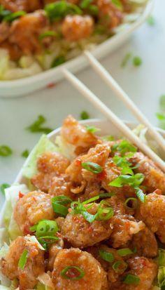 Bang bang shrimp. Great copycat recipe of Bonefish Grill bang bang shrimp. | joeshealthymeals.com