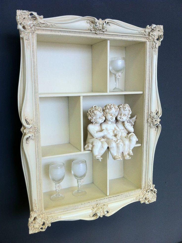 Distressed Vintage Bedroom Inspiration: Cream Shabby Wall Shelf Unit Distressed Vintage Chic