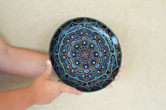 Large hanging plate Harmony of East // Wall hanging //  by LekaArt, $60.00