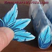 Shades of blue feather cane